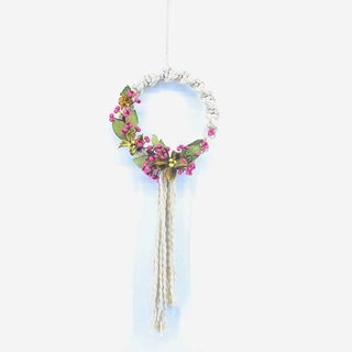 Small Macrame Wreath with Flower 18101098